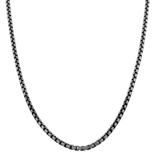 Jewelry Gift for Women and Girls Glitzs Jewels 925 Sterling Silver Necklace Italian Chain, 8 Sided Snake 025