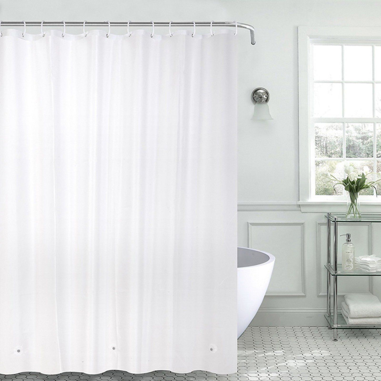 Sweet Home Collection 100 Peva Heavyweight Shower Curtain Liner