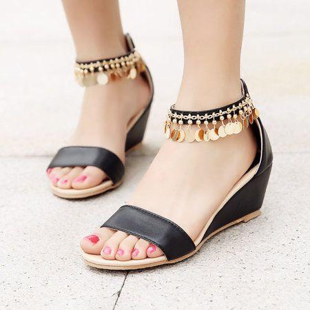 f1a900098 2019 的 Women Low Heel Summer Sandals 主题