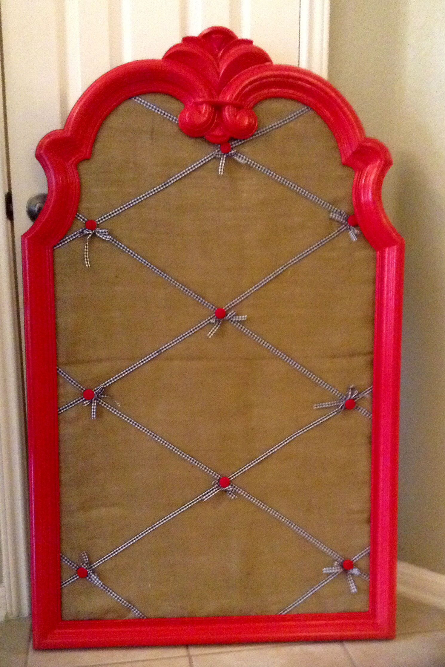Bulletin Board Made From A Broken Dresser Mirror Used The