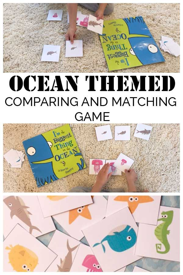 Printable Ocean Comparing and Matching Games | Animales, Juego y Niños