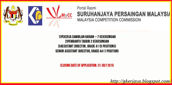 Jawatan Kosong Di Suruhanjaya Persaingan Malaysia Need A Job Malaysia Job