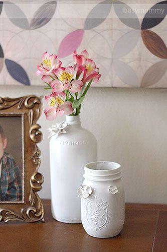 Diy Flower Vases And Decorative Jars Out Of Old Wine Bottles Mason