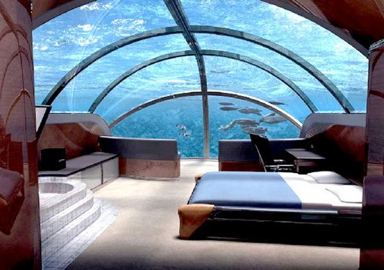 Unique Hotel With Rooms Designed Underwater In The Sea Is One Of Still Largely