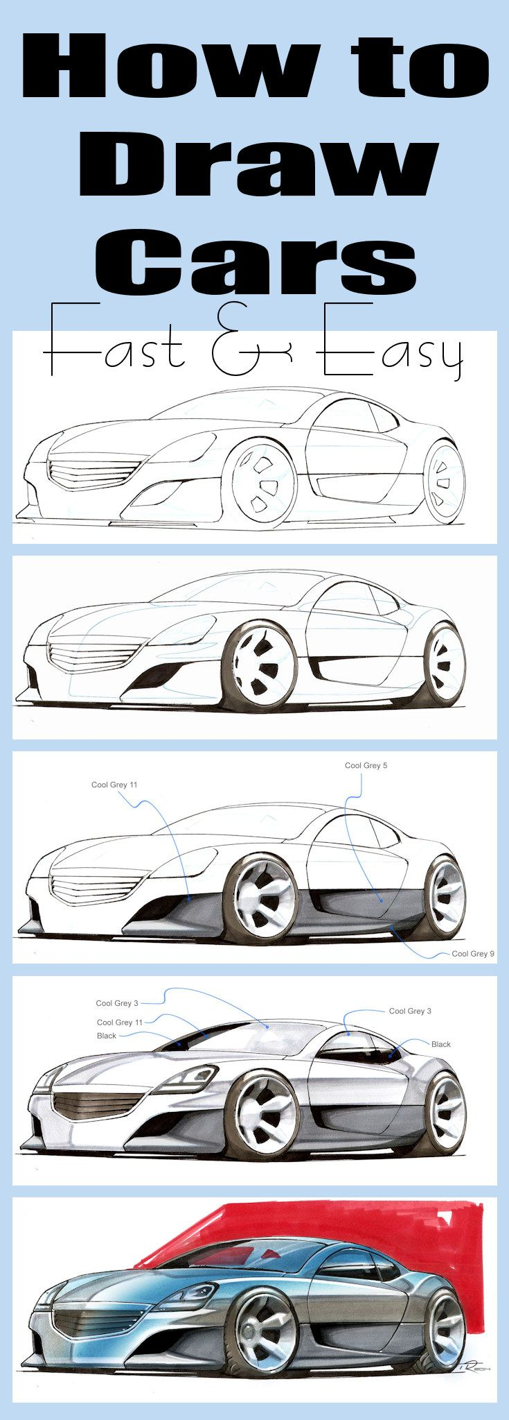 Learn To Draw Cars In 30 Minutes Ideal For Beginners How To Draw
