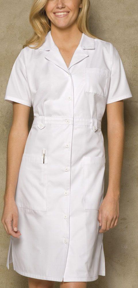 80a15732c3171 Dickies Medical Uniform Button Front WHITE Nurse's Uniform Dress 38