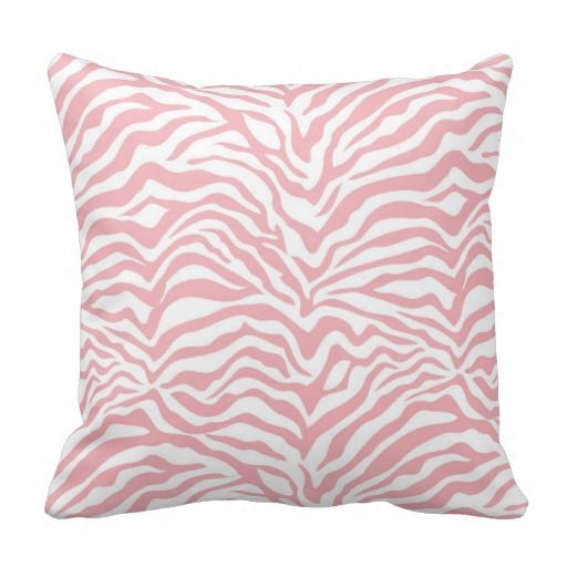 Baby Pink Zebra Stripe Throw Pillow Pink Zebra Throw Pillows And Mesmerizing Pink Zebra Print Decorative Pillows
