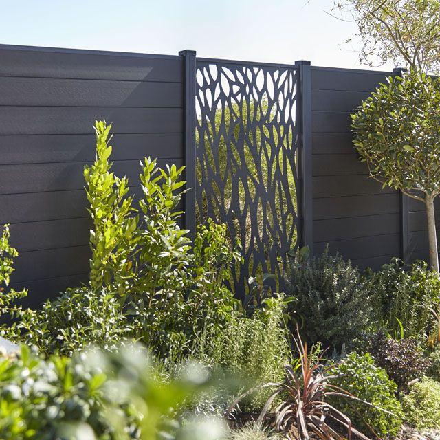 Panneau En Alu Arbre Neva Castorama Garden Pergola Ideas Backyard Fences Fence Design