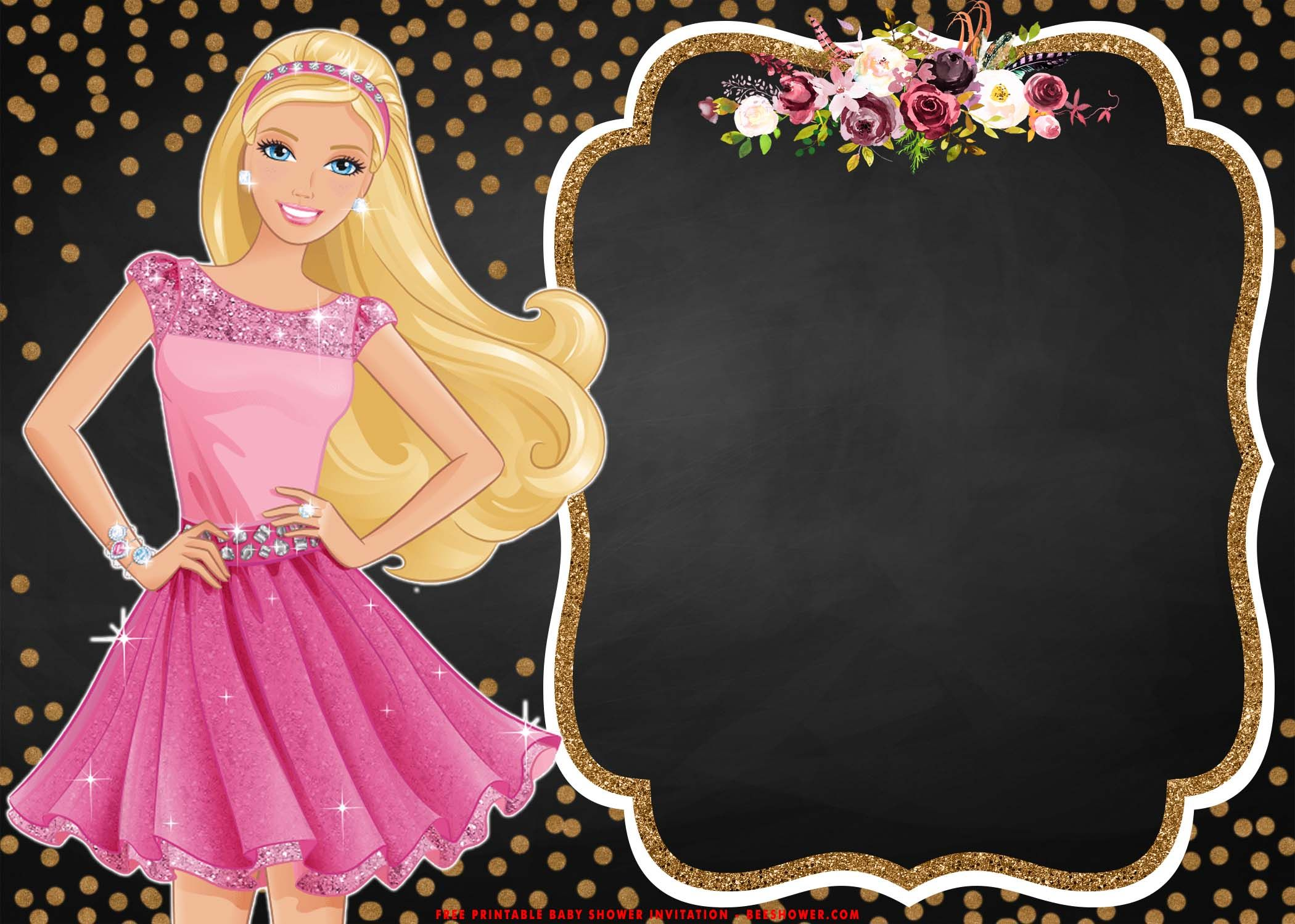 barbie birthday invitation templates