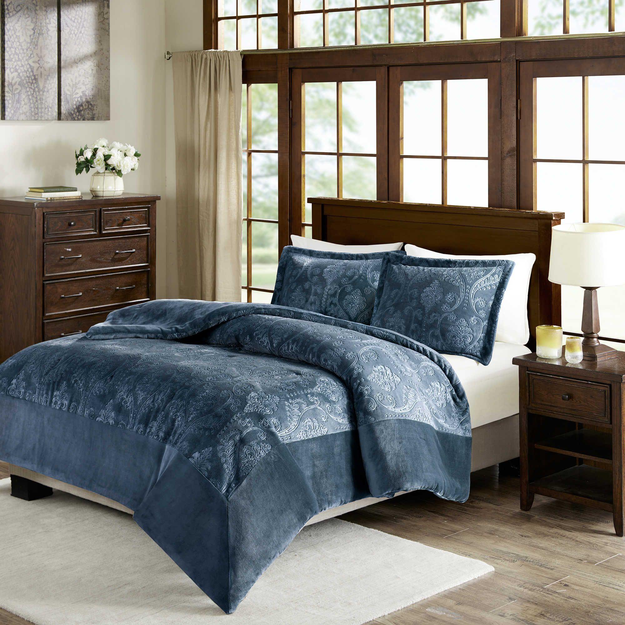Premier Comfort Kramer King California King Comforter Set In Blue