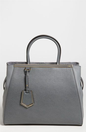 Free shipping and returns on Fendi  2Jours Elite  Leather Shopper at ... 26ac466295ccb