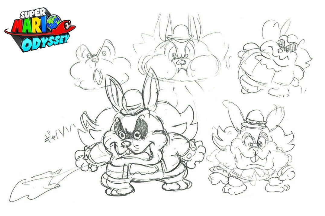 Super Mario Odyssey Concept Art Unveiled For Broodals Member Spewart Concept Art Books Book Art Concept Art