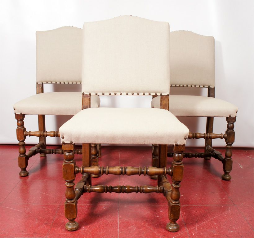 6 Jacobeanstyle Dining Chairs  Jacobean Dining Chairs And Nail Head Impressive Dining Room Head Chairs Design Decoration