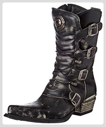 New Rock Dallas Schwarz Stiefel M.7993-S3 - Stiefel für ...