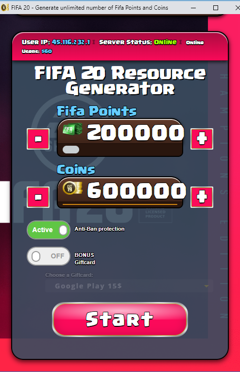 FIFA 20 Hack Tool — Get Unlimited FREE COINS and Fifa