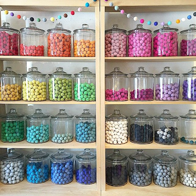 Felt balls anyone?! Come see our new felt ball bar in-store or order your custom felt ball garland online now!! Link in profile #petitepartystudio #feltballgarland #getityourway #customdecor