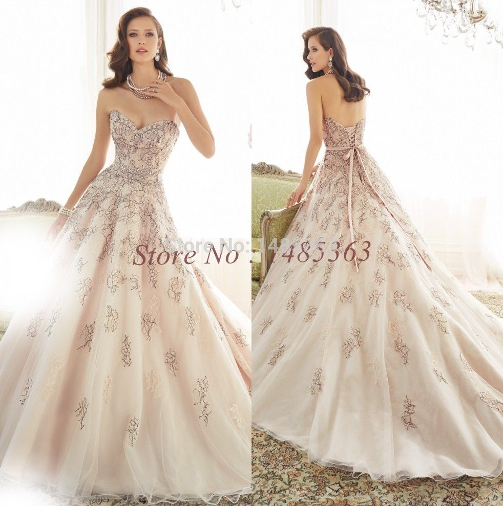 Champagne Beaded Wedding Dresses Google Search Just The Dress Pink
