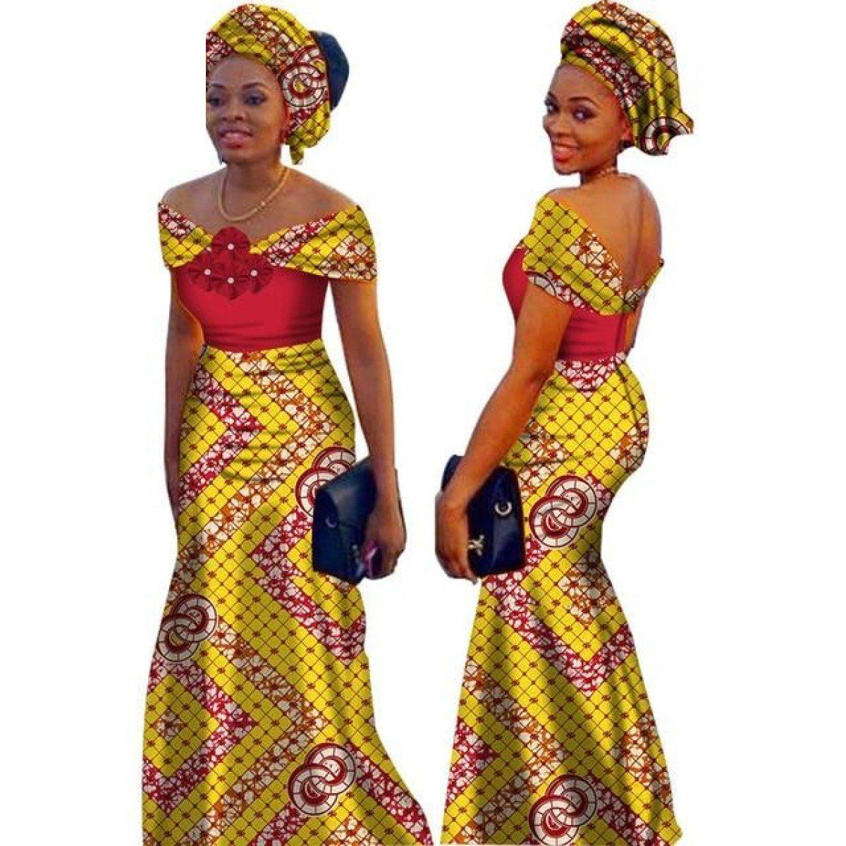 6253ea8b8 African Style Long Dress For Women Cotton Print Kitenge Ankara Custom  Vestidos African Party Dresses,
