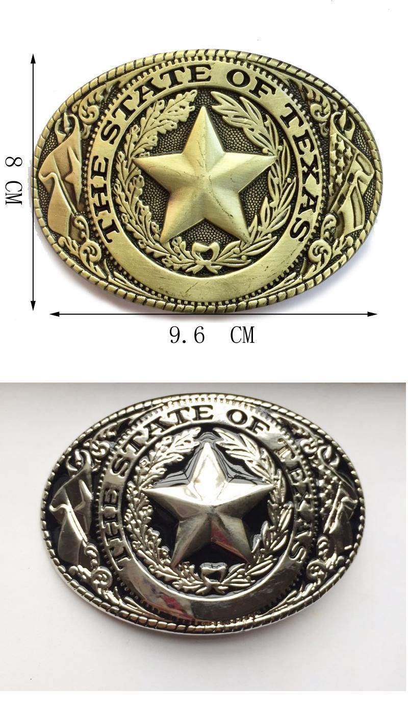 The State Of Texas Black Silver Logo Texas Seal Western Belt Buckle