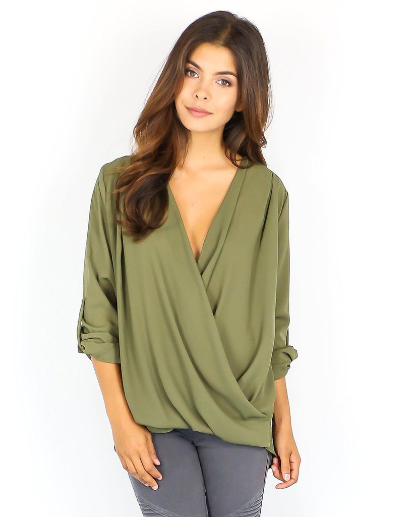 Style Starter Blouse - Olive - ITEM OF THE DAY