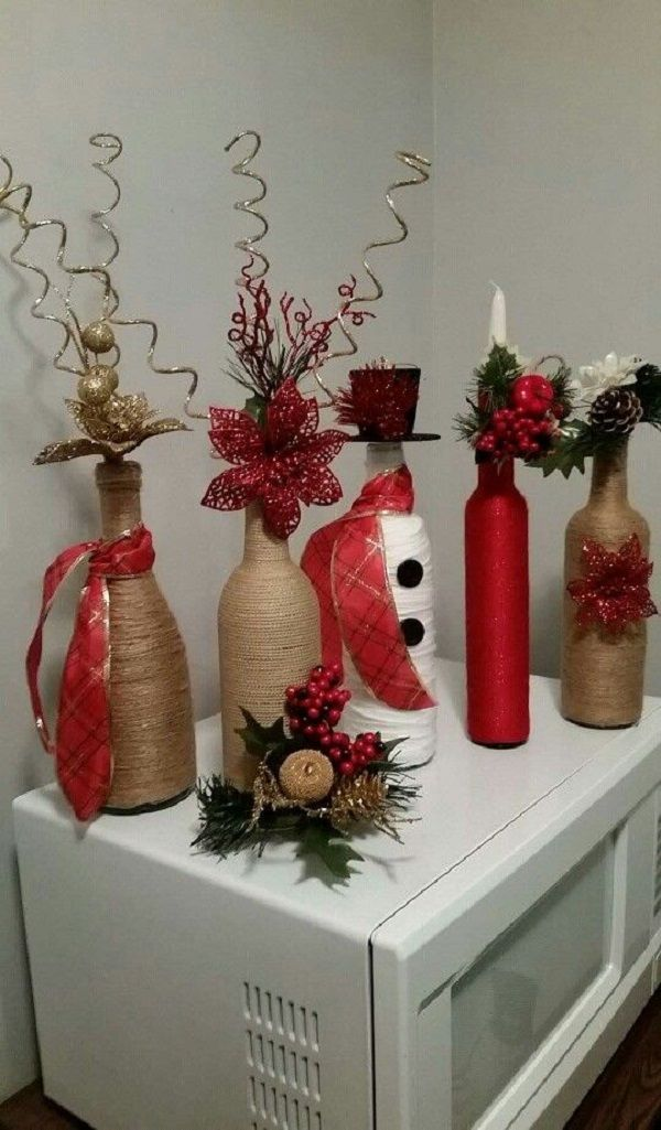 Decoraciones de botellas para navidad manualidades for Decoraciones navidenas faciles de hacer