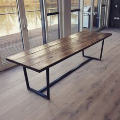 awesome reclaimed wood dining table with tapered steel frame by wwwtop home dec home decor - Metal Table Frame