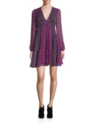 DIANE VON FURSTENBERG Ivetta Silk A-Line Dress. #dianevonfurstenberg #cloth #dress