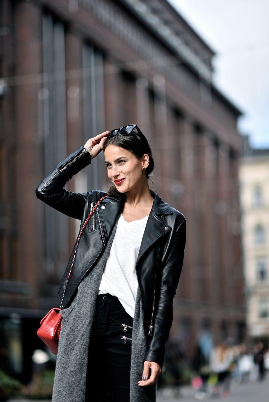 8e4f1dad Didem Özgûn in Samsøe & Samsøe Duris leather jacket. | Style to love ...