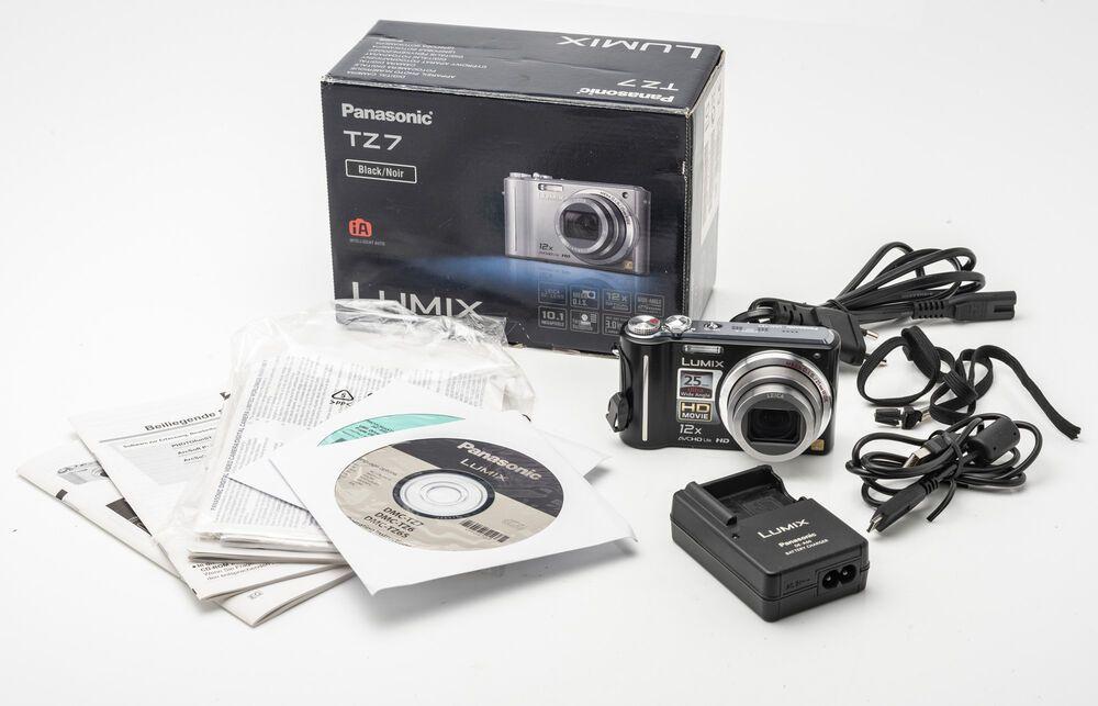 Panasonic Lumix Dmc Tz7 Eg K Digitalkamera Kompaktkamera Kamera Schwarz 10mp Ovp Panasonic Lumix Stuff To Buy Panasonic