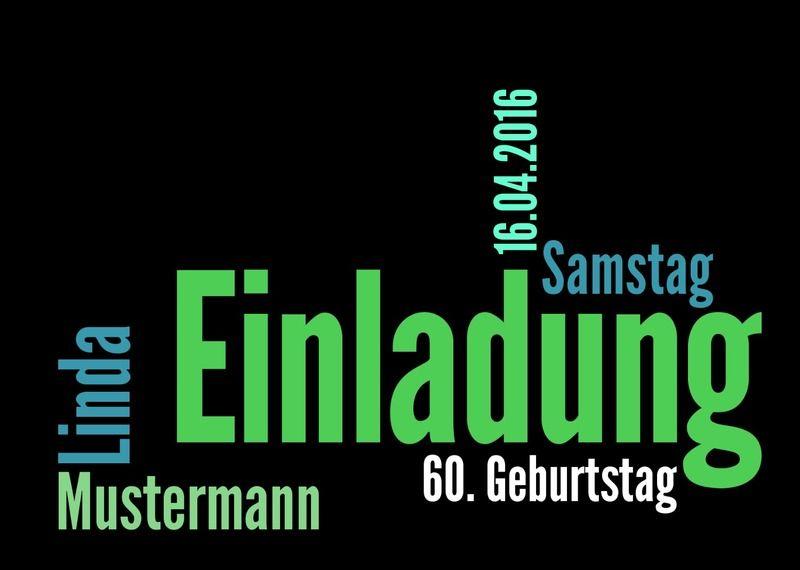 Individuelle Einladungskarte In Schwarz Von Designkarten Auf DaWanda.com