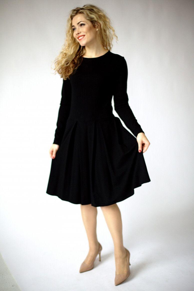 15 Schwarzes Kleid Langarm in 15  Schwarzes kleid langarm