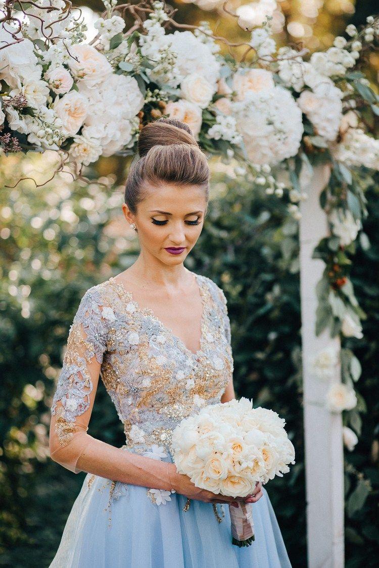 Pink & Gold Wedding in Romania Blue wedding dresses