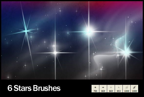 6 Star Brushes Star Brush Photoshop Tutorial Photo Editing Photoshop