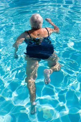 How Many Calories Can You Burn By Running In Water Livestrong Com Water Exercises Water Aerobic Exercises Pool Workout