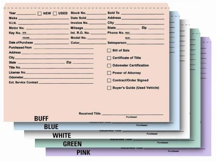 Heavy Duty Deal Jackets Record Envelopes Pkg of 100 - vehicle service contract
