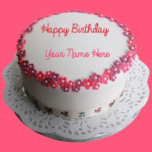 Write Name On Birthday Round Cake And Send Whatsapp