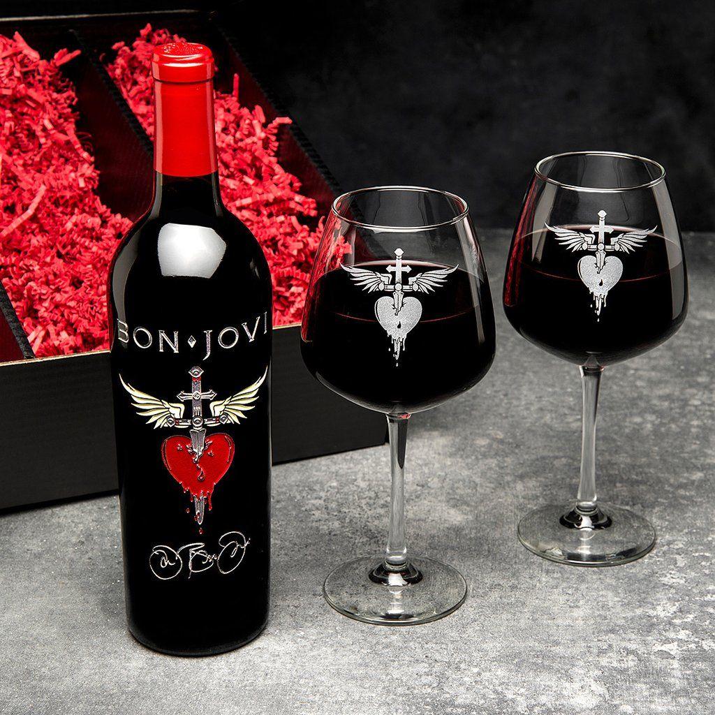 Classic Heart Dagger Signature Edition Etched Wine Bon Jovi Wine Collection