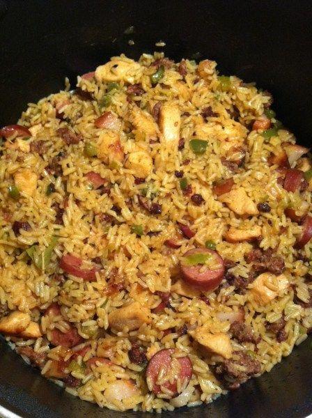Eric S Famous Slow Cooker Jambalaya Recipe Food Recipes Food