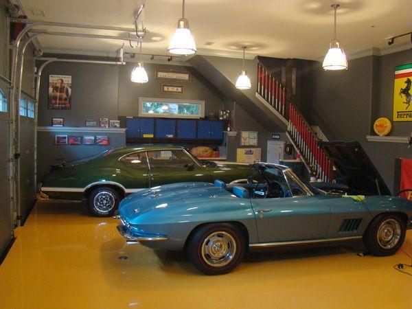 Pendent Lighting In Garage Jourdain Wells Garage