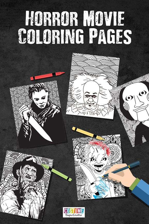 Horror Movies Printable Coloring Pages   Horror crafts ...