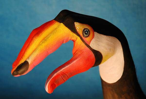 Guido Daniele~Human Hands Transformed Into Animal Faces