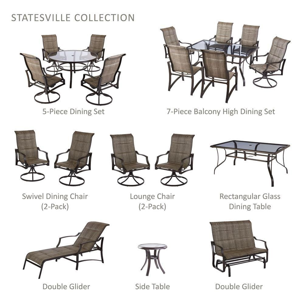 Statesville Patio Furniture.Hampton Bay Statesville 5 Piece Padded Sling Patio Dining Set With