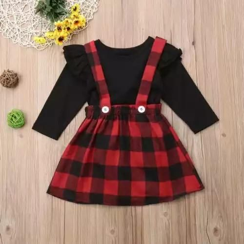 62c5a348b Buffalo Plaid Jumper Set. Buffalo Plaid Jumper Set Suspender Dress, Baby  Outfits Newborn ...