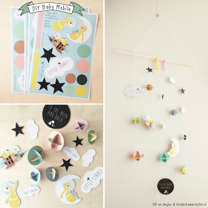 diy baby mobile  c r a f t e d  Baby bedroom Adairs