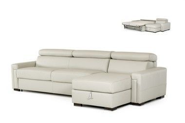 Adjustable Headrests Leather Reversible Sectional Storage ...