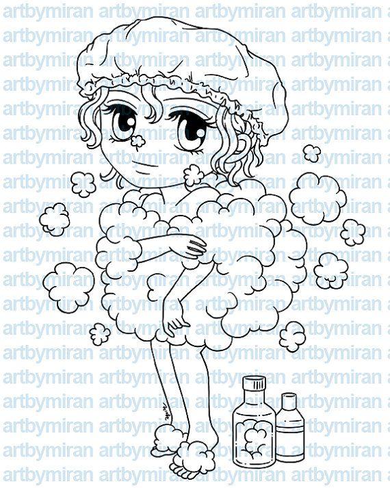 Digital Stamp  Buffie238 Digi Stamp Coloring page by artbymiran