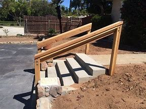 Image result for Wood Handrails for Concrete Steps ...