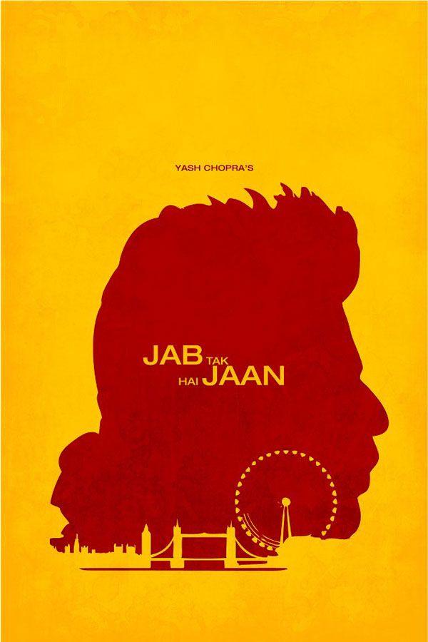 Jab Tak Hai Jaan 2012 Minimal Movie Poster By Amogh Ravindra Amusementphile Minimal Movie Posters Movie Posters Bollywood Posters