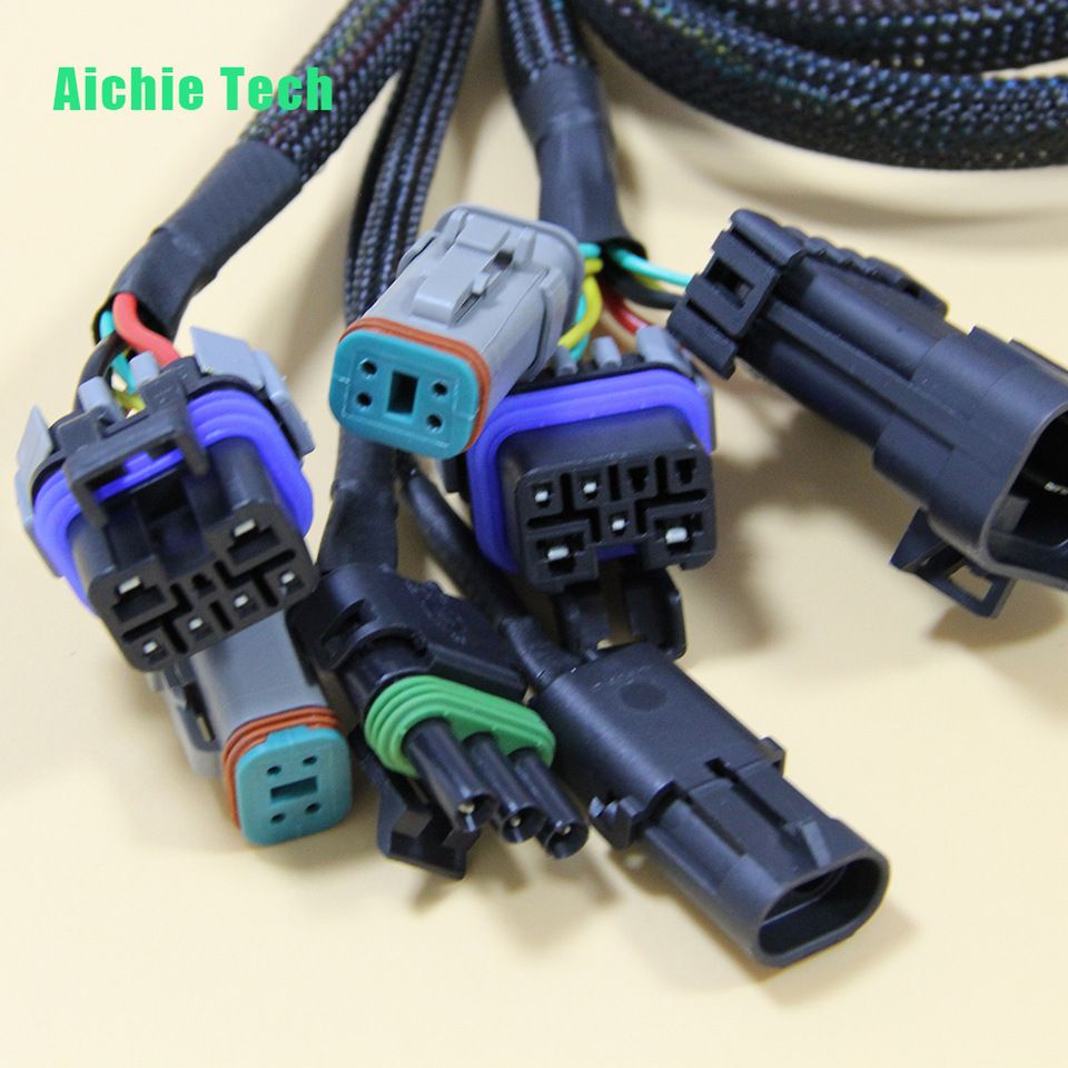 hight resolution of custom ts16949 high quality automotive wire harness basic auto electrical wiring with te ecu delphi plugs