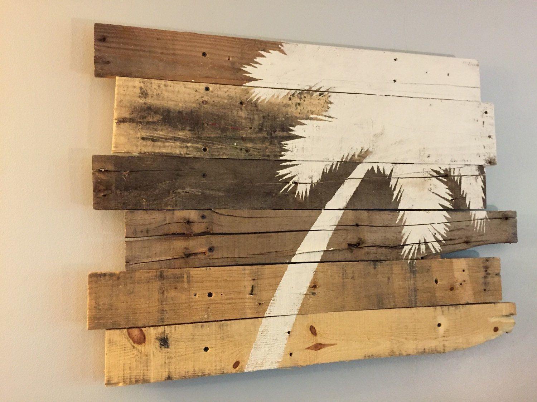 Beach Decor Palm Tree Rt Lean 32 X 21 Natural Color